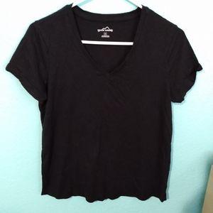 Eddie Bauer black women shirt